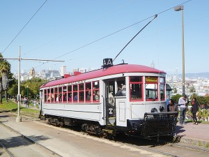 Courtesy Rick Laubscher This is a restored Muni Streetcar No. 1, which is in identical condition to the way it was in 1915 when it carried San Franciscans and visitors to the World's Fair.